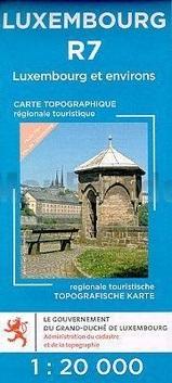 Lux. R07  Luxembourg et environs 1:20.000 R7 wandelkaart LUXR07  Le Gouvernement du Grand-Duché Wandelkaarten Luxemburg  Wandelkaarten Luxemburg