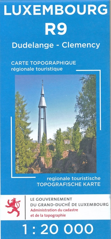 Lux. R09  Dudelange, Clémency 1:20.000 R9 wandelkaart LUXR09  Le Gouvernement du Grand-Duché Wandelkaarten Luxemburg  Wandelkaarten Luxemburg