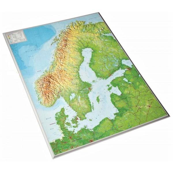 Reliëfkaart van Scandinavië 1:2.900.000 4280000664693  Georelief   Wandkaarten Scandinavië & de Baltische Staten