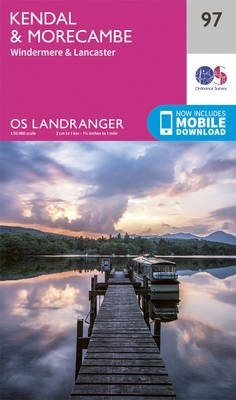 LR-097 Kendal to Morecambie, Windermere, Lancaster | topografische wandelkaart 9780319263402  Ordnance Survey Landranger Maps 1:50.000  Wandelkaarten Lake District