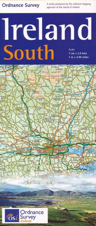 OSHM-4  Ireland South   landkaart - wegenkaart Zuid-Ierland 1:250.000 9781908852861  Ordnance Survey Ireland Irish Holiday Maps  Landkaarten en wegenkaarten Munster, Cork & Kerry
