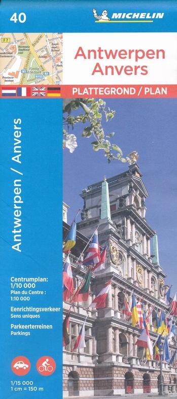 Antwerpen 9782067235830  Michelin Plattegronden Belgie  Stadsplattegronden Antwerpen