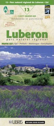 LB-13  Luberon Est  | wandelkaart 1:60.000 9782723453912  Libris Wandelkaarten Provence  Wandelkaarten Provence, Marseille, Camargue