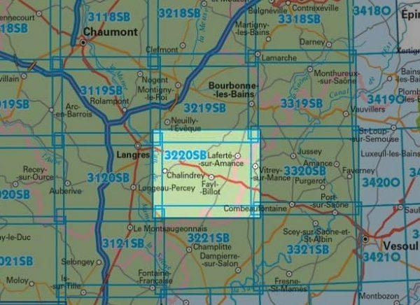 wandelkaart 3220-SB Fayl-Billot, Chalindrey 1:25.000 9782758537441  IGN IGN 25 Bourgogne & Morvan  Wandelkaarten Bourgogne