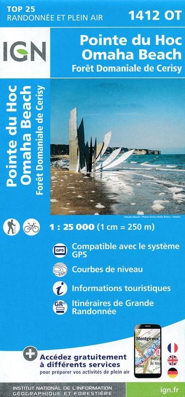 1412OT  Trévières, Grandcamp-Maisy | wandelkaart 1:25.000 9782758538776  IGN IGN 25 Normandië  Wandelkaarten Normandië