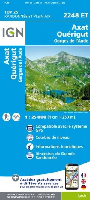 2248ET   Quérigut,  Axat | wandelkaart 1:25.000 9782758542766  IGN IGN 25 Franse Pyreneeën  Wandelkaarten Franse Pyreneeën