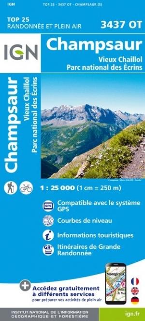 3437OT Champsaur, Vieux Chaillol | wandelkaart 1:25.000 9782758543275  IGN IGN 25 Franse Alpen/ zuidhelft  Wandelkaarten Franse Alpen: zuid