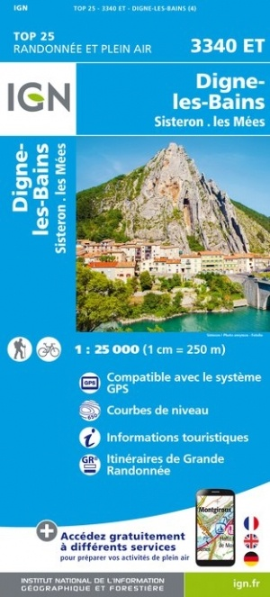 3340ET   Volonne, Digne-les-Bains | wandelkaart 1:25.000 9782758545583  IGN IGN 25 Franse Alpen/ zuidhelft  Wandelkaarten Franse Alpen: zuid