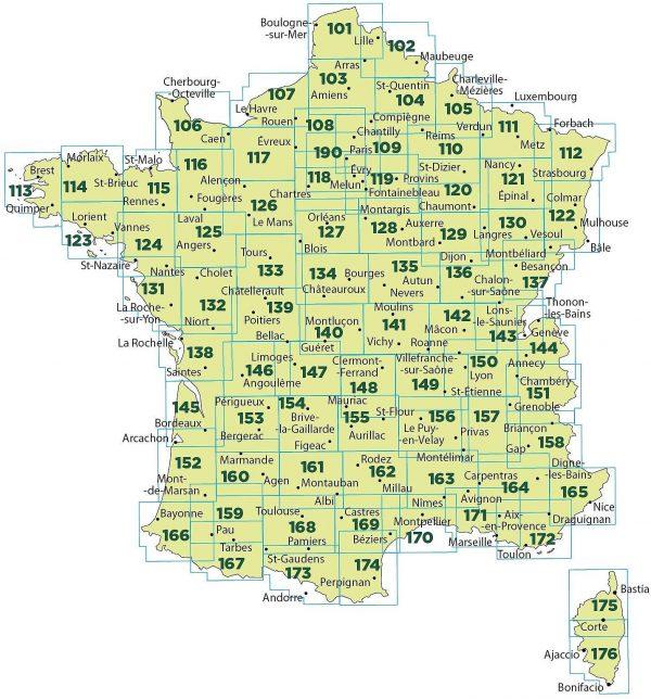 SV-111 Metz, Verdun, Luxembourg | omgevingskaart / fietskaart 1:100.000 9782758547501  IGN Série Verte 1:100.000  Fietskaarten, Landkaarten en wegenkaarten, Lopen naar Rome Lotharingen, Nancy, Metz