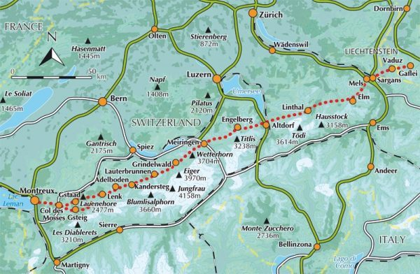 Band 1: Via Alpina 9783039020096 Guido Gisler AT-Verlag Wanderland Schweiz  Cadeau-artikelen, Wandelgidsen Zwitserland