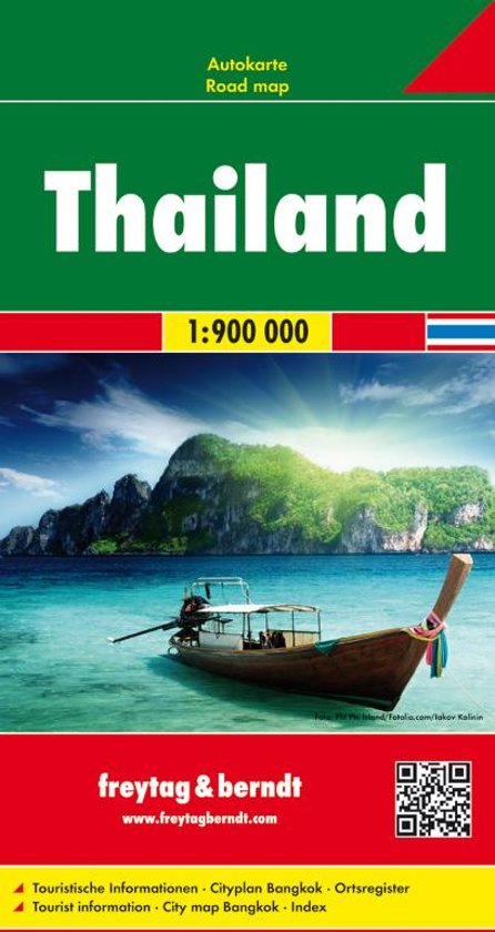 Thailand | autokaart, wegenkaart 1:900.000 9783707913774  Freytag & Berndt   Landkaarten en wegenkaarten Thailand