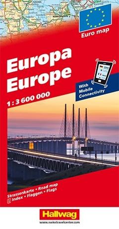 Europa 1:3.600.000 9783828309203  Hallwag   Landkaarten en wegenkaarten Europa