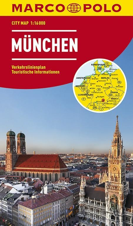 Marco Polo Stadsplattegrond München 1:16.000 / 10.000 9783829730952  Marco Polo   Stadsplattegronden München en omgeving