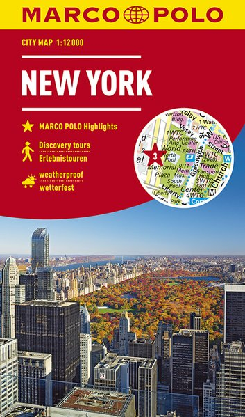 New York stadsplattegrond 9783829741811  Marco Polo (D) MP stadsplattegronden  Stadsplattegronden New York, Pennsylvania, Washington DC