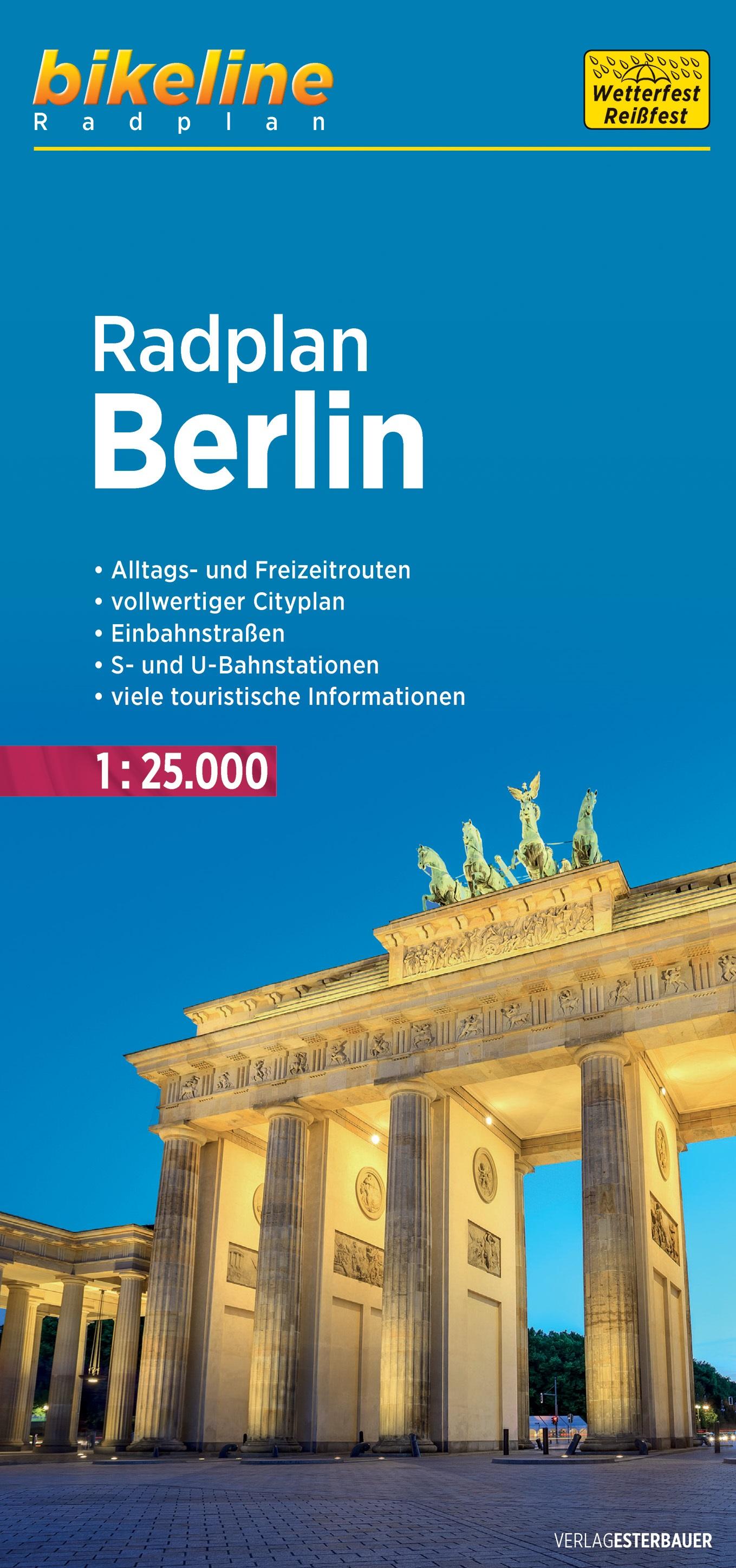RP-B  Berlin Radplan 1:25.000 9783850007177  Esterbauer Bikeline Radkarten  Fietskaarten Berlijn