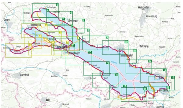 Bikeline Bodensee-Radweg (D/A/CH)   fietsgids 9783850007719  Esterbauer Bikeline  Fietsgidsen, Meerdaagse fietsvakanties Bodenmeer, Schwäbische Alb, Tirol & Vorarlberg