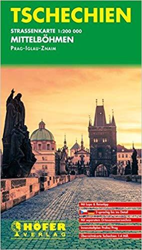 CS-005 Mittelböhmen 1:200.000 9783931103644  Höfer Verlag   Landkaarten en wegenkaarten Tsjechië