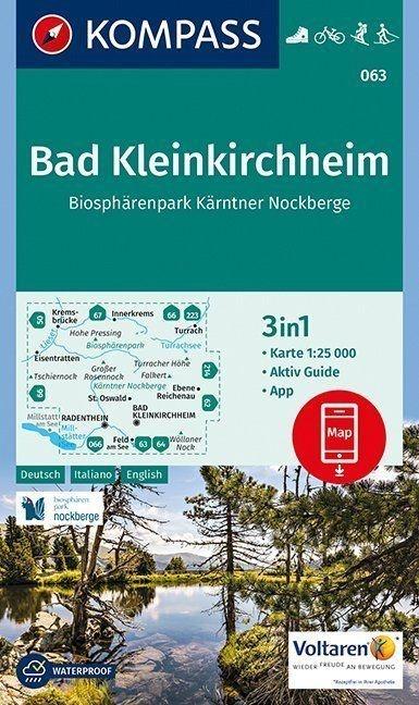KP-063 Bad Kleinkirchheim/N.P. Nockberge | Kompass wandelkaart 9783990443170  Kompass Wandelkaarten Kompass Oostenrijk  Wandelkaarten Salzburg, Karinthië, Tauern, Stiermarken
