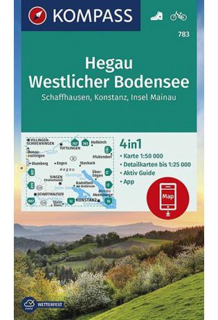 KP-783 Hegau/Westlicher Bodensee | Kompass wandelkaart 9783990445921  Kompass Wandelkaarten Kompass Duitsland  Wandelkaarten Bodenmeer, Schwäbische Alb