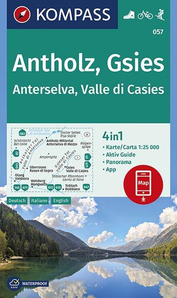 KP-057  Antholz, Gsies | Kompass wandelkaart 1:25.000 9783990446218  Kompass Wandelkaarten Kompass Italië  Wandelkaarten Zuid-Tirol, Dolomieten