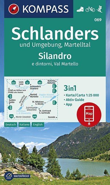 KP-069  Schlanders, Martelltal | Kompass wandelkaart 1:25.000 9783990446232  Kompass Wandelkaarten Kompass Italië  Wandelkaarten Zuid-Tirol, Dolomieten
