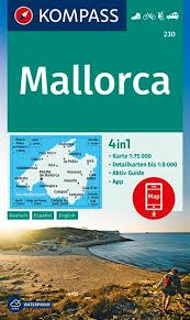 KP-230 Mallorca | Kompass wandelkaart 9783990446409  Kompass Wandelkaarten   Wandelkaarten Mallorca