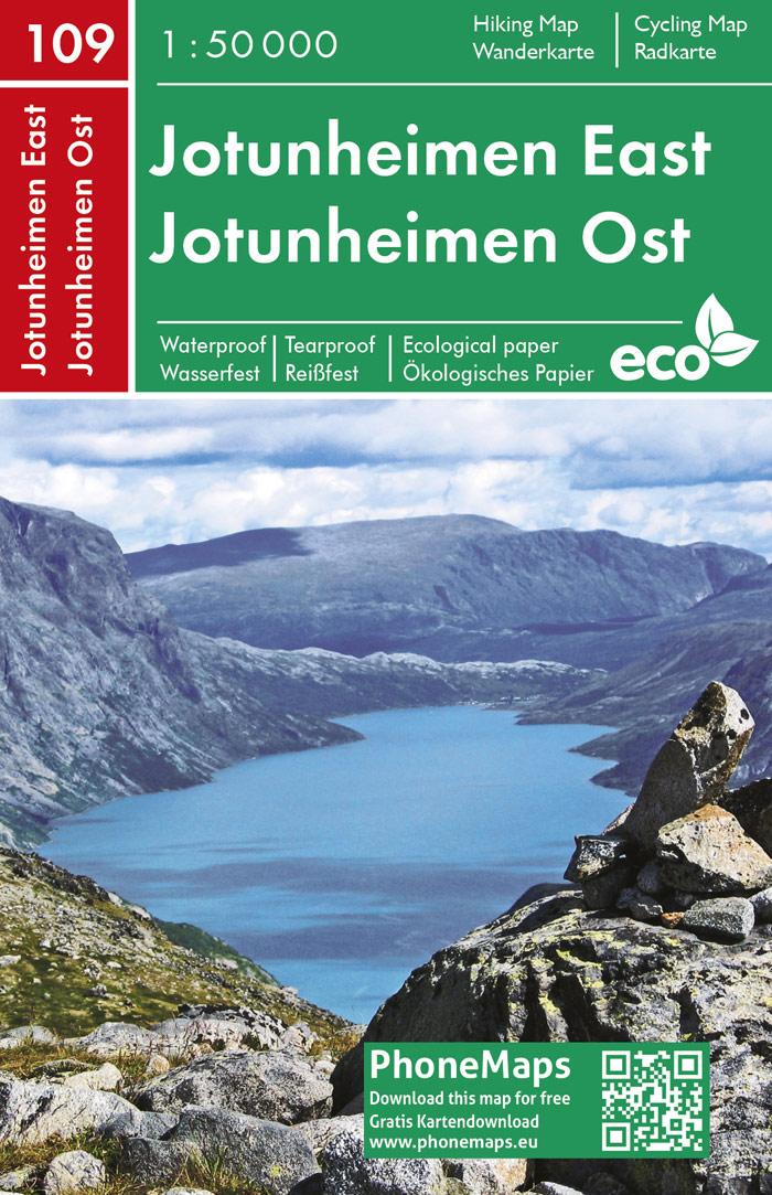 F&B-109 Jotunheimen Oost 1:50.000 9788074454271  Freytag & Berndt Phone Maps  Wandelkaarten Noorwegen boven de Sognefjord