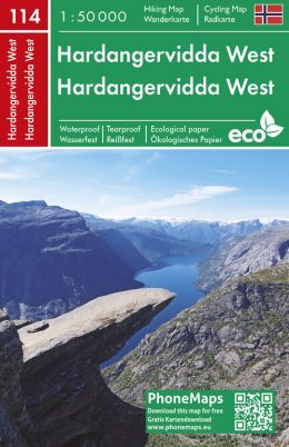 F&B-114 Hardangervidda West 1:50.000 9788074454356  Freytag & Berndt Phone Maps  Wandelkaarten Zuid-Noorwegen