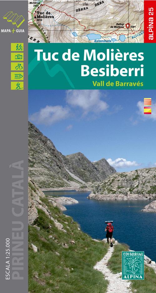 Tuc de Molières, Besiberri 1:25.000 9788480907507  Editorial Alpina Wandelkaarten Spaanse Pyreneeë  Wandelkaarten Spaanse Pyreneeën