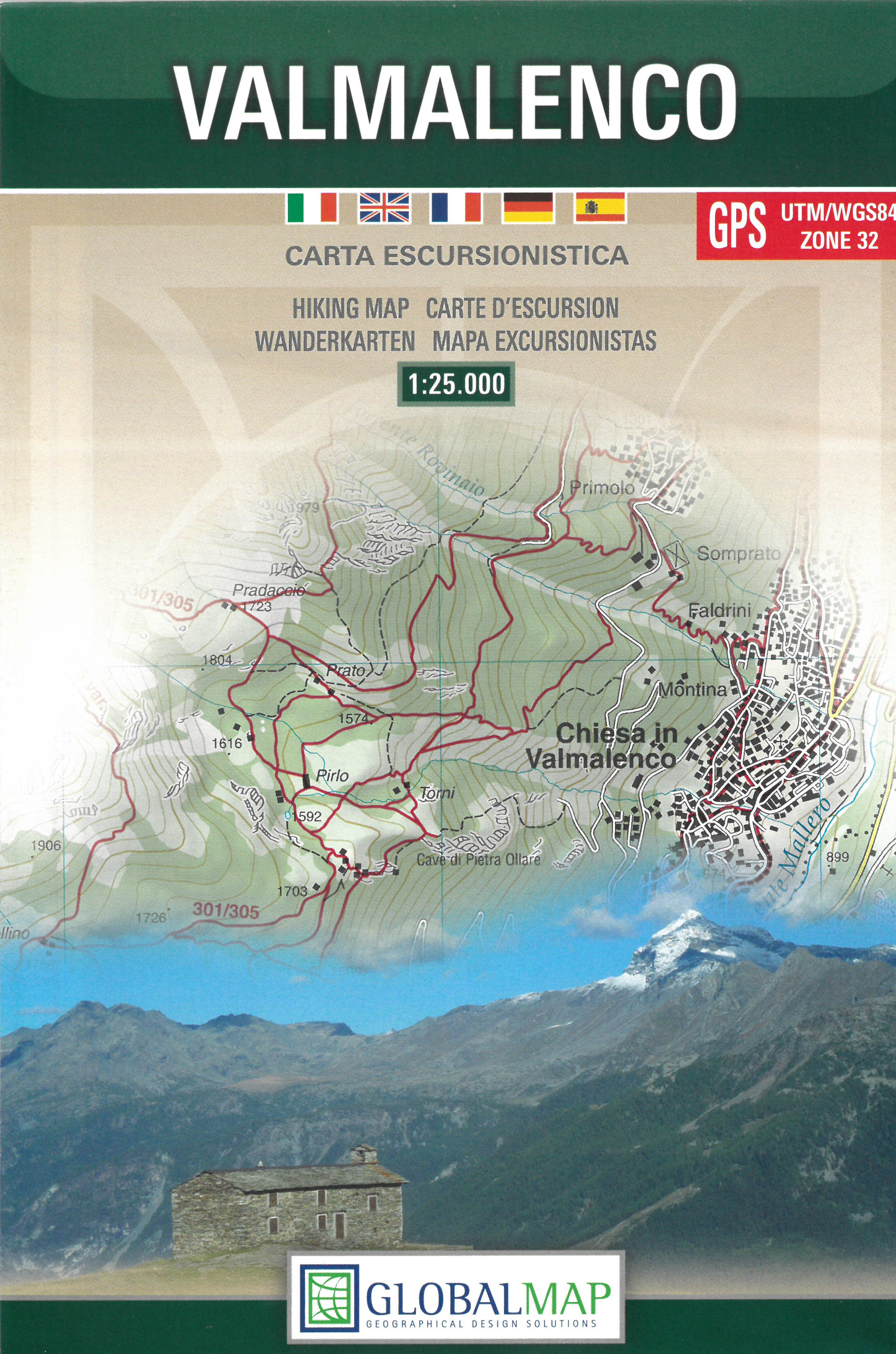 Valmalenco - Sondrio 1:25.000 9788879145039  Global Map   Wandelkaarten Milaan, Lombardije, Italiaanse Meren