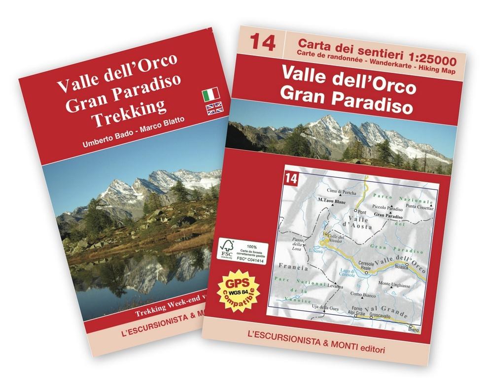 ESC-14  Valle dell Orco | wandelkaart 1:25.000 9788898520534  Escursionista Carta dei Sentieri 1:25.000  Wandelkaarten Aosta, Gran Paradiso, Turijn, Piemonte