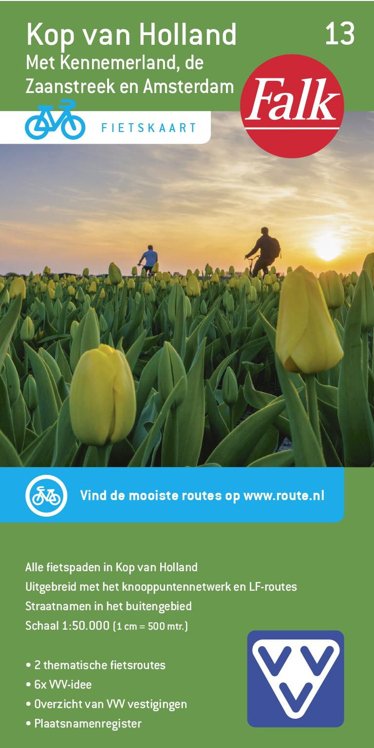 FFK-13  Kop van Noord-Holland | VVV fietskaart 1:50.000 9789028730564  Falk Fietskaarten met Knooppunten  Fietskaarten Noord-Holland