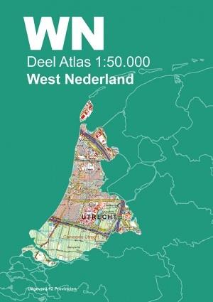 Topografische Atlas West Nederland 1:50.000 9789492534057  12 Provincien Ned. 1:50.000  Wandelkaarten West Nederland