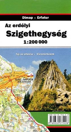 Muntii Apuseni, Muntii Szigethegyseg 1:200 000 9789630075428  Dimap   Landkaarten en wegenkaarten Roemenië, Moldavië