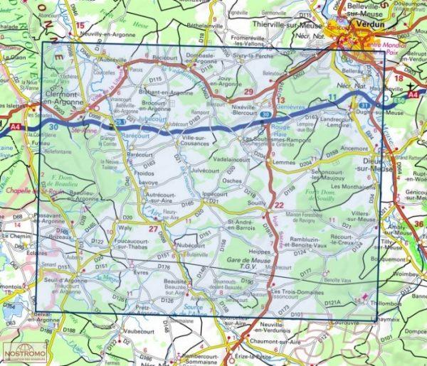 wandelkaart 3113-SB Clermont-en-Argonne, Dugny-sur-Meuse 1:25.000 9782758541714  IGN IGN 25 Champagne / Ardennes  Wandelkaarten Champagne, Franse Ardennen
