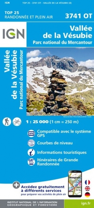 3741OT: Vallée de la Vésubie, Col de Turini | wandelkaart 1:25.000 9782758541974  IGN IGN 25 Franse Alpen/ zuidhelft  Wandelkaarten Franse Alpen: zuid