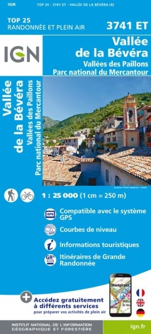 3741ET  Vallée de la Bévera/ P.N. du Mercantour | wandelkaart 1:25.000 9782758542889  IGN IGN 25 Franse Alpen/ zuidhelft  Wandelkaarten Franse Alpen: zuid