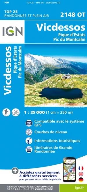 2148OT   Vicdessos | wandelkaart 1:25.000 9782758545293  IGN TOP 25  Wandelkaarten Franse Pyreneeën