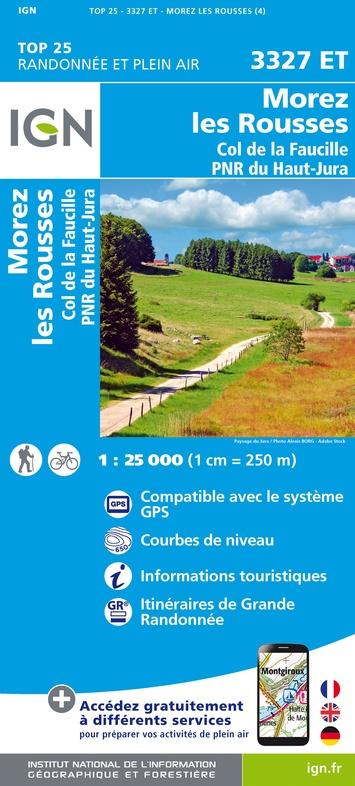 3327ET   les Rousses, Morez,Gex | wandelkaart 1:25.000 9782758546658  IGN TOP 25  Wandelkaarten Franse Jura
