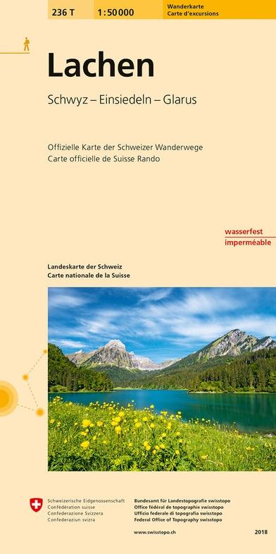 236T Lachen [2018] 9783302302362  Bundesamt / Swisstopo SAW 1:50.000  Wandelkaarten Noordoost- en Centraal Zwitserland