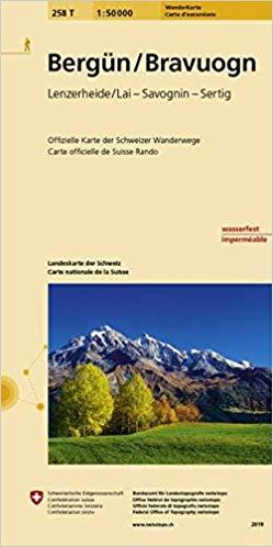 258T  Bergün [2019] 9783302302584  Bundesamt / Swisstopo SAW 1:50.000  Wandelkaarten Graubünden, Tessin