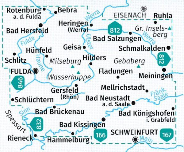 KP-460 Rhön 1:50.000 (2-delige kaartenset)   Kompass wandelkaart 9783990446041  Kompass Wandelkaarten Kompass Duitsland  Wandelkaarten Odenwald, Spessart en Rhön