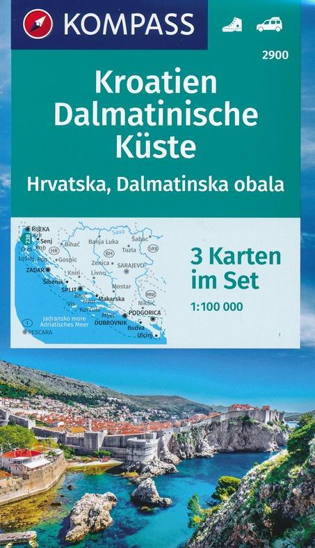 KP-2900 Kroatien, Dalmatinische Küste 1:100.000 9783990446393  Kompass   Landkaarten en wegenkaarten Kroatië