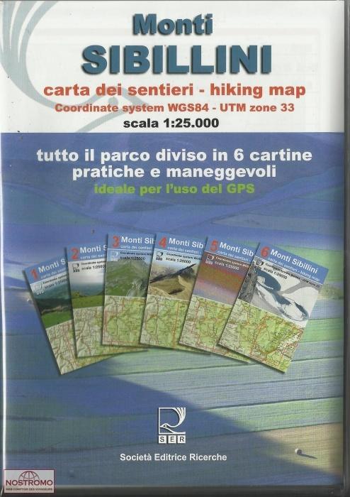 Monti Sibillini, 6 cartine | set van 6 wandelkaarten 1: 25.000 9788886610568  Societa Editrice Ricerche   Wandelkaarten De Marken, Umbrië