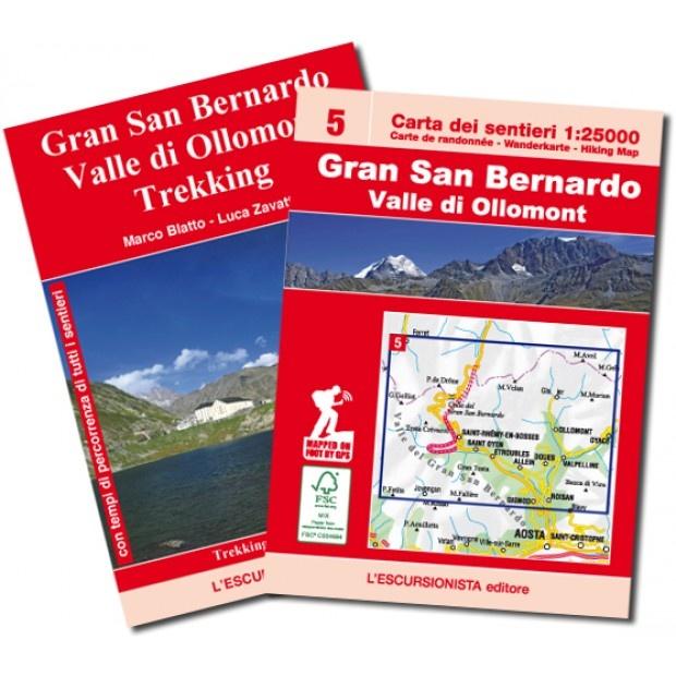 ESC-05  Gran San Bernardino, Ollomont | wandelkaart 1:25.000 9788898520855  Escursionista Carta dei Sentieri 1:25.000  Wandelkaarten Aosta, Gran Paradiso