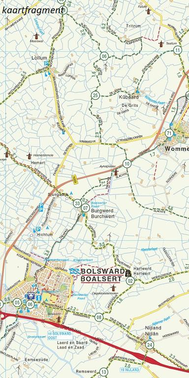 FFK-03  Friese meren (met Zuid-Friesland) | VVV fietskaart 1:50.000 9789028730540  Falk Fietskaarten met Knooppunten  Fietskaarten Friesland