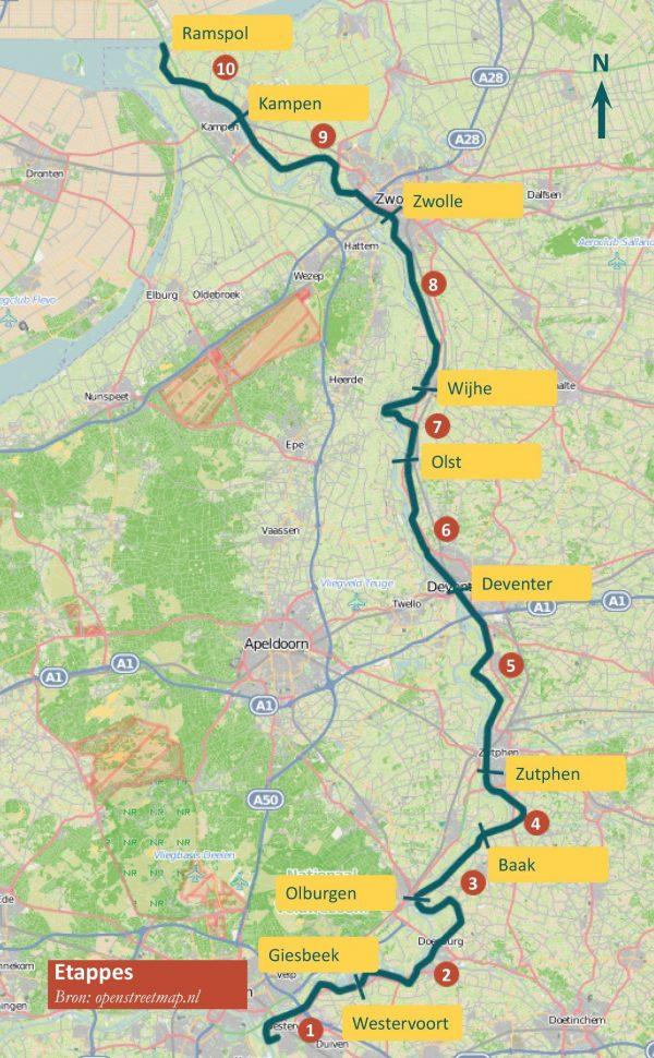 IJsselpad | wandelgids 9789491899034 Dolf Logemann Anoda   Meerdaagse wandelroutes, Wandelgidsen Gelderse IJssel en Achterhoek, Kop van Overijssel, Vecht & Salland