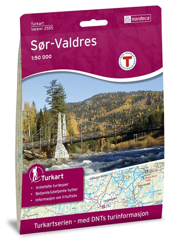 UG-2555  Sør-Valdres | topografische wandelkaart 1:50.000 7046660025550  Nordeca / Ugland Turkart Norge 1:50.000  Wandelkaarten Zuid-Noorwegen