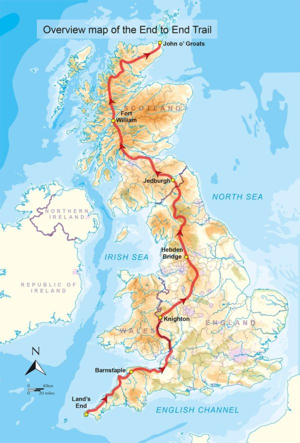 End to End Trail   wandelgids 9781852849337 Andy Robinson Cicerone Press   Meerdaagse wandelroutes, Wandelgidsen Groot-Brittannië