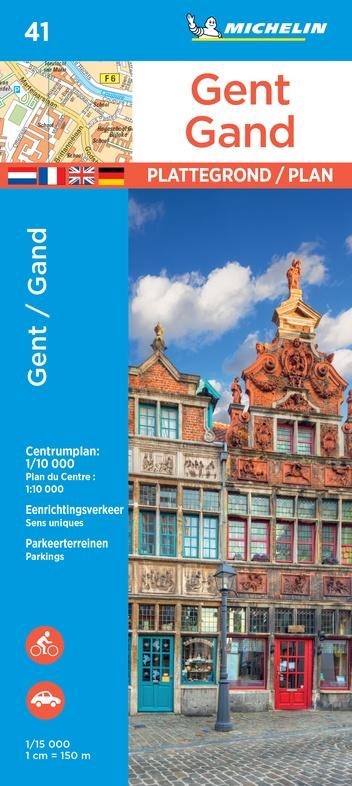 Gent extra 9782067235847  Michelin Plattegronden Belgie  Stadsplattegronden Gent & Brugge